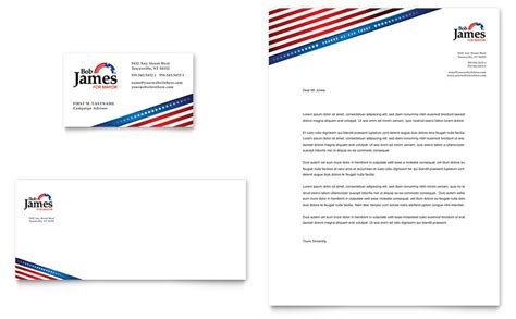 Political Caign Business Card Letterhead Template Word Publisher Free Political Caign Letter Templates