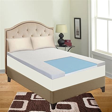 King Size Bed Topper by Cool Gel Memory Foam Topper For King Size Mattress