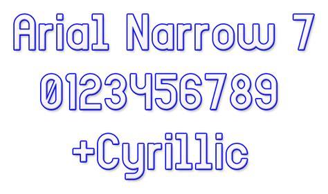 Dafont Arial | arial narrow 7 font dafont com