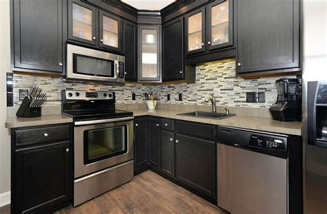 Black Kitchen Cabinets Small Kitchen Small Kitchen With Black Cabinets Black Kitchen Cabinets With Any Type Of Decor Homefurniture