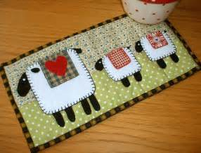lambs mug rug by the patchsmith quilting pattern