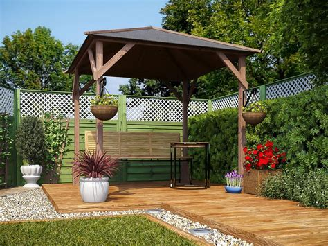 garden gazebo kits gazebo kits wooden open heavy duty garden square bbq