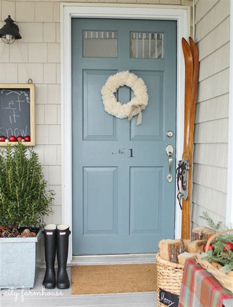 wreath for front door a farmhouse christmas tour part 2 city farmhouse