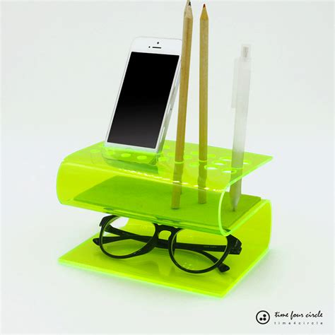 these bent acrylic desk organizers are for