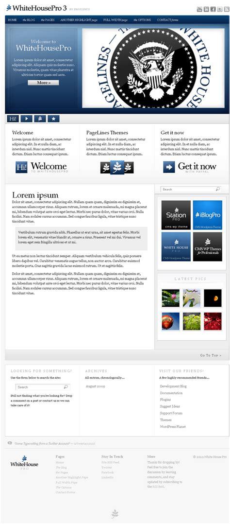 whitehousepro 3 premium wordpress theme avj themes