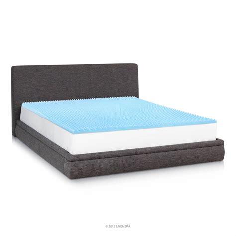 linenspa 2 inch convoluted gel infused foam mattress