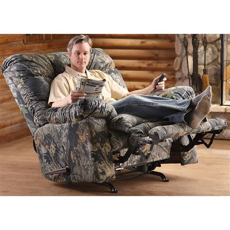 catnapper camo recliner catnapper 174 magnum recliner chair mossy oak 174 177554
