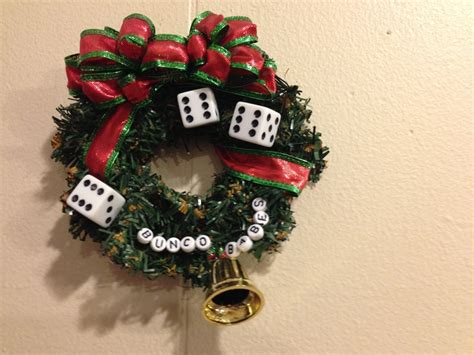 christmas bunco ornament christmas ideas pinterest
