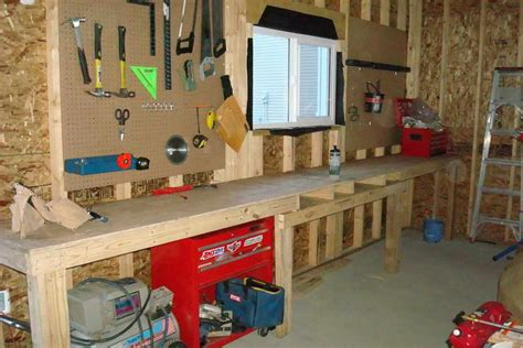 how to build a garage workshop free garage workbench plans ideas woodworking plans ideas