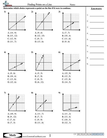 all worksheets 187 grade 9 slope worksheets printable