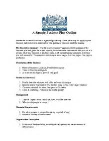 Write Business Plan Template 9 An Example Of Business Plan Bussines Proposal 2017