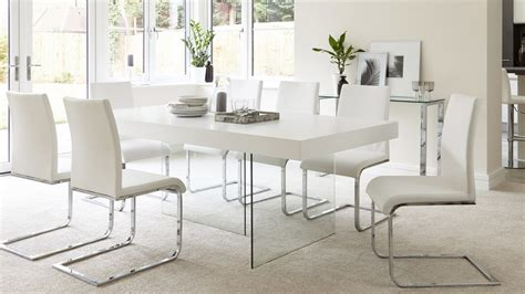 glass dining room furniture a perfect wow factor for modern white oak dining table glass legs seats 6 8