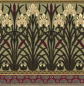 Anglo Rugs by Victorian Floral Wallpaper Fenway Iris Frieze Bradbury