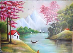 Good Painting Ideas by Image Gallery Scenery Paintings