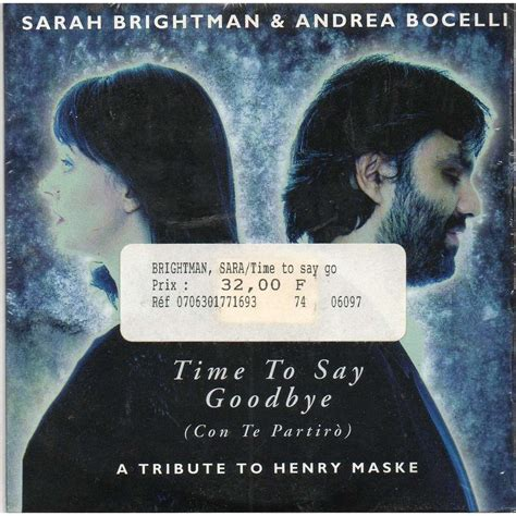 Time To Say Goodbye time to say goodbye by brightman andrea bocelli