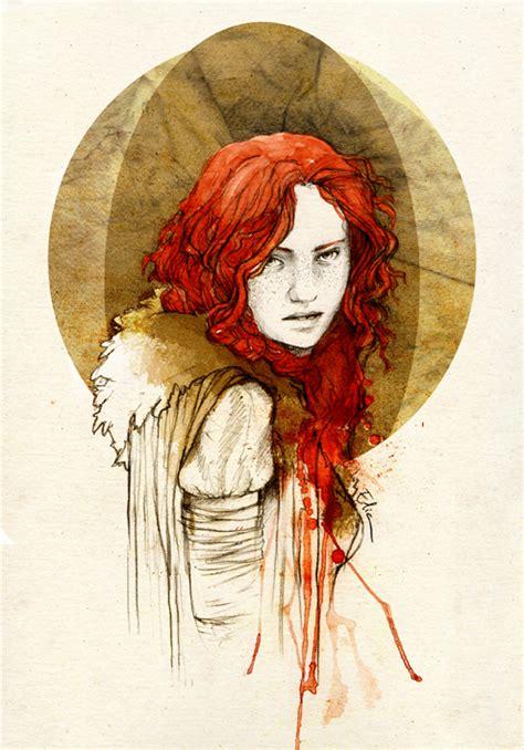 drawing game of thrones arya sansa catelyn ygritte ygritte by elia illustration on deviantart