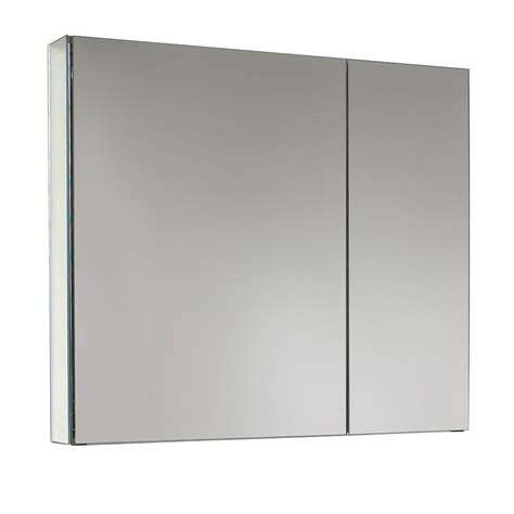 fresca 30 quot wide mirrored bathroom medicine cabinet 2 door