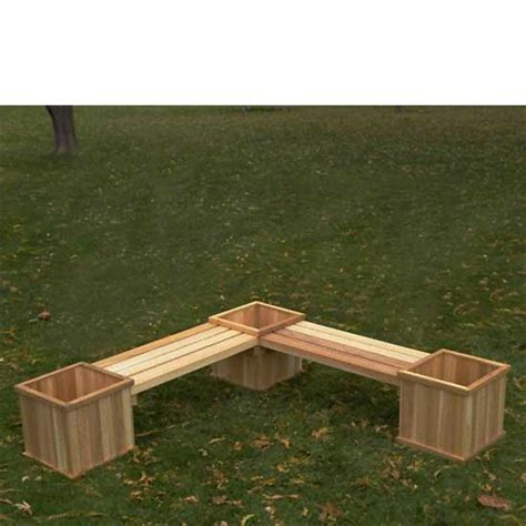 garden bench planter garden bench with flower box google search landscaping