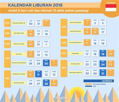 Kalender 2018 Indonesia Libur Nasional Kalender Libur Nasional Dan 13 Weekend Di Indonesia 2018
