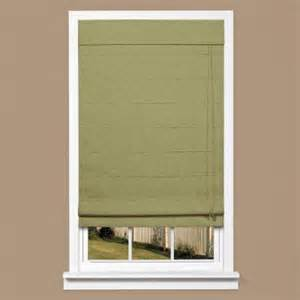 Green Roman Shade - homebasics green linen look thermal blackout fabric roman shade 31 in w x 64 in l rstb3164