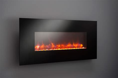 In The Wall Electric Fireplace by Greatco 50 In Gallery Linear Wall Mount Electric Fireplace