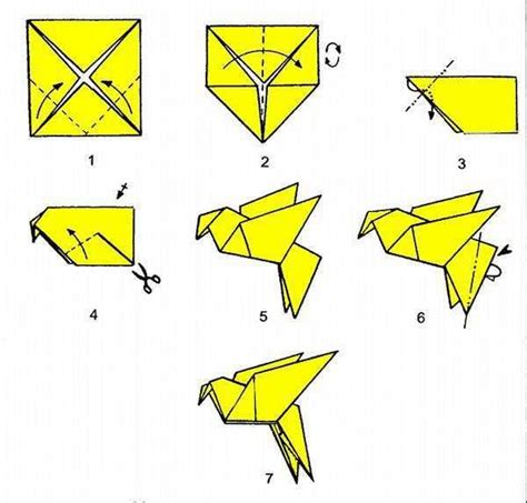 How To Fold Paper Into A Bird - the 25 best origami bird ideas on origami