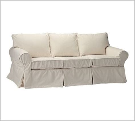 white slipcovered sofa pottery barn white neutrels