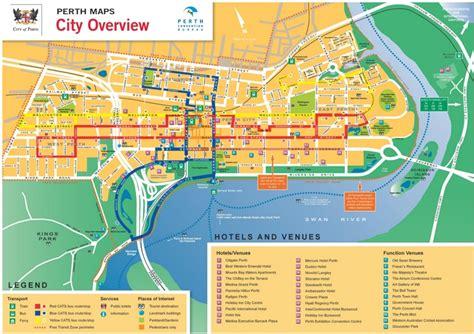 printable map perth city perth cbd map
