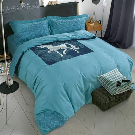 Equestrian Bedding Sets Summer Style 100 Cotton Ikea Simple Fashion 4pc Bedding Sets Comforter Sets Blue Green