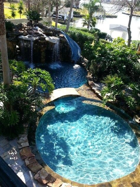 waterfalls for pools inground pool with waterfall bullyfreeworld com