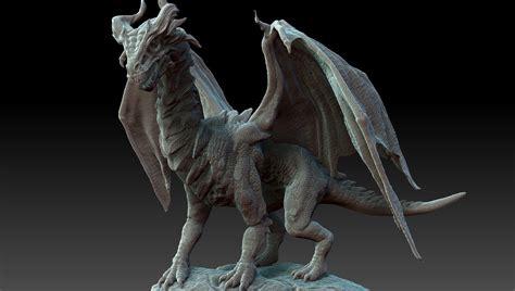 3d hd model gothic dragon zbrush hd 3d model obj ztl cgtrader