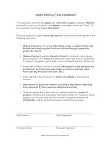 Production Contract Template by Production Contract Template