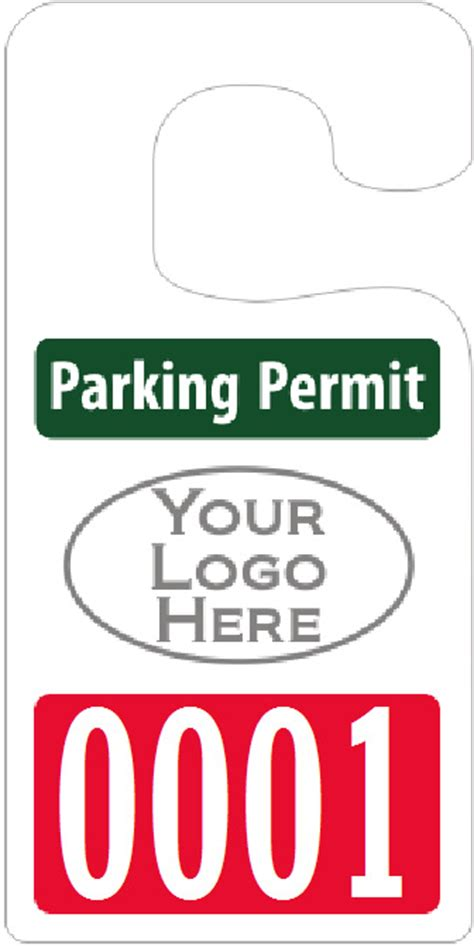 Big Foot Parking Permits Jumbo Size Hang Tags Parking Pass Template