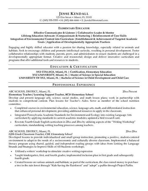 elementary resume format 35 best teaching portfolio ideas images on