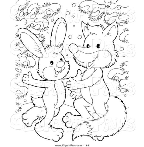snow bunny coloring pages pal clipart of a coloring page outline design of a rabbit