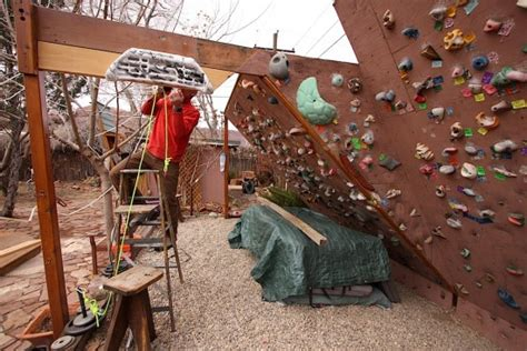 backyard bouldering wall hangboard workout for climbing getting started steph