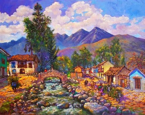 imagenes de paisajes andinos cuadros modernos pinturas y dibujos paisajes peruanos al