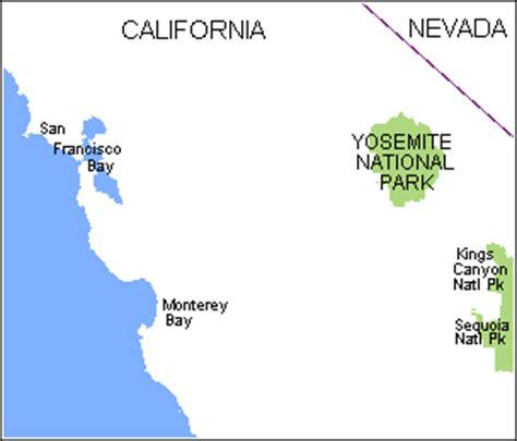 map san francisco to yosemite national park map san francisco yosemite national park