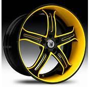 Asanti Wheels Rims AF167 20 22 24 Inch Black Yellow Accent Face Lip