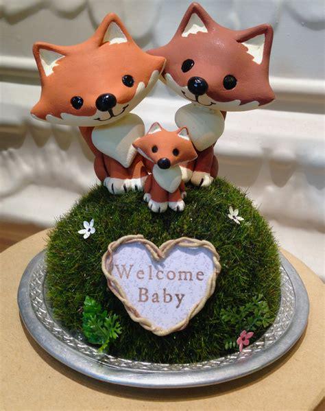 woodland baby shower woodland foxes baby shower cake topper custom cake topper