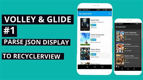 android studio volley tutorial volley glide tutorial 1 parse json and display content