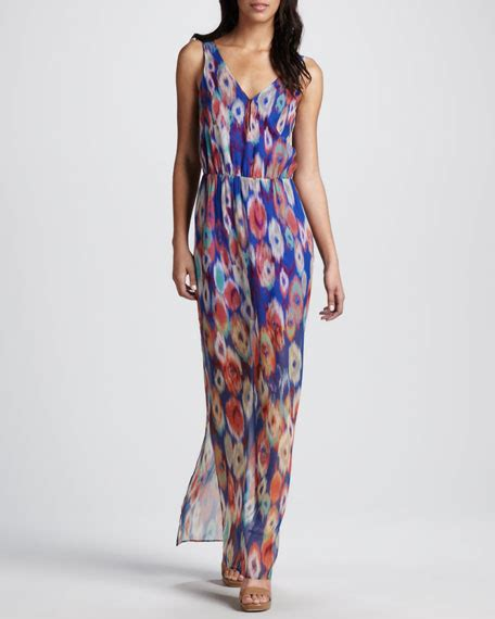 Clothes Maxi Rb T2909 rb by rory beca printed sheer skirt maxi dress
