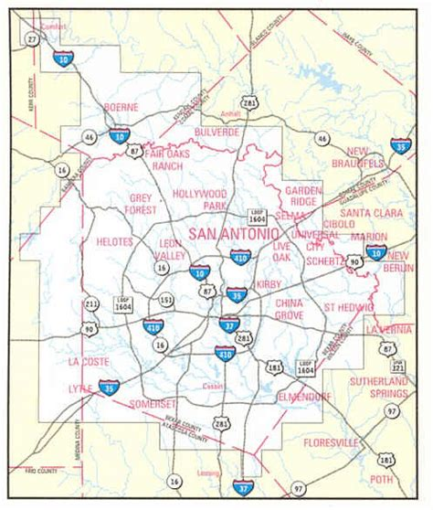 san antonio texas zip codes map san antonio guide by mapsco