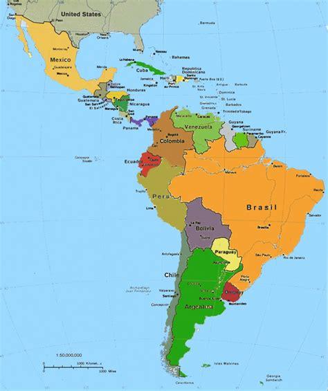 america mapa nombres mapa america