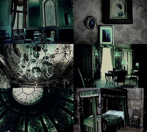 slytherin bedroom house common room aesthetics slytherin dungeon ravenclaw