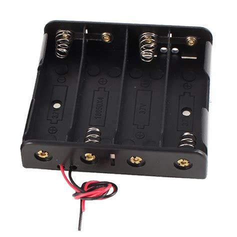 Baterai Holder 18650 X 2 2 pcs black plastic battery holder w wire for 4 x 18650 14 8v lw ebay