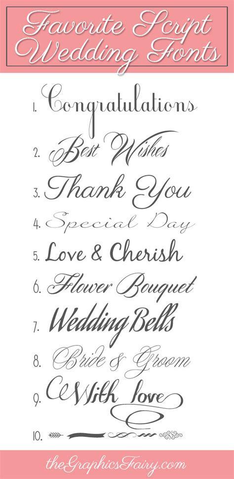Favorite Script Wedding Fonts   The Graphics Fairy