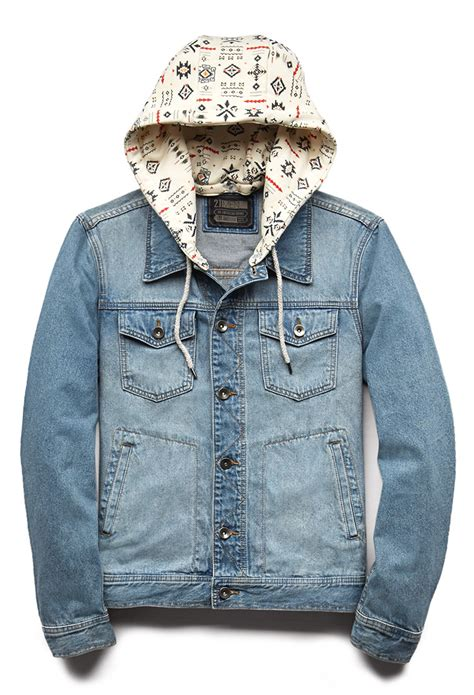 Fresh Denim by Lyst Forever 21 Fresh Hooded Denim Jacket In Blue For