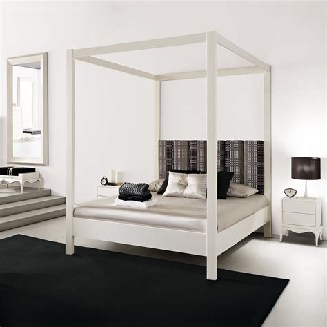 white four poster bed modern white four poster bed juliettes interiors