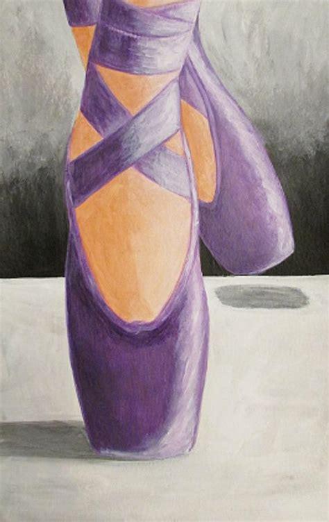 purple ballet shoes painting  katrina parker williams